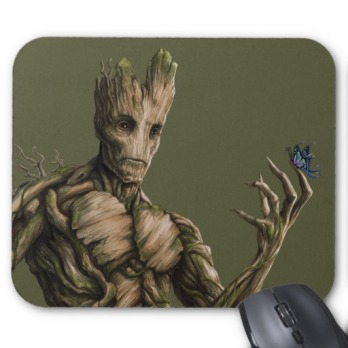 Groot Character Art Mouse Pad